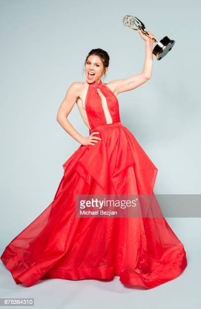 Kate Mansi poses for portraits at The 44th Daytime Emmy Awards Portraits by The Artists Project Sponsored by Foster Grant on April 30 2017 in Los...