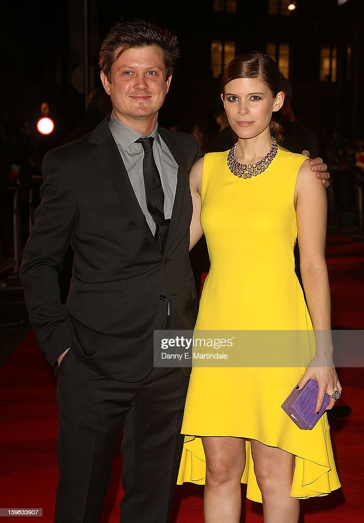Kate Mara and Beau Willimon attends the red carpet premiere for the launch of Netflix Original Series, House of Cards on January 17, 2013 in London, United Kingdom.