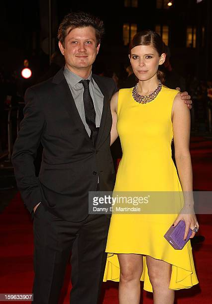 Kate Mara and Beau Willimon attends the red carpet premiere for the launch of Netflix Original Series House of Cards on January 17 2013 in London...