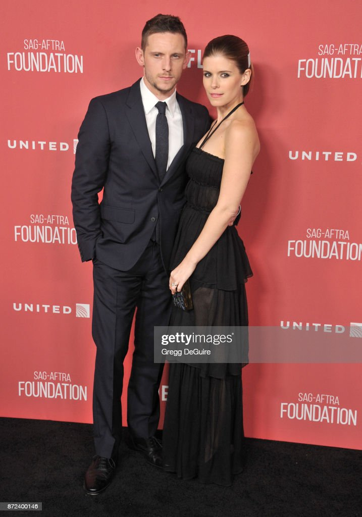 Kate Mara and Jamie Bell arrive at the SAG-AFTRA Foundation Patron of the Artists Awards 2017 on November 9, 2017 in Beverly Hills, California.
