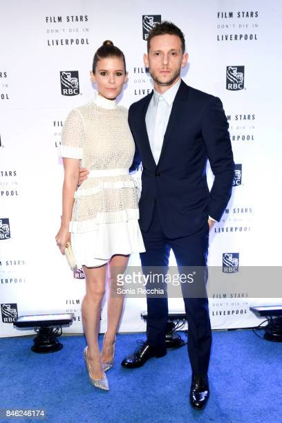 Kate Mara and Jamie Bell attend the RBC hosted 'Film Stars Don't Die in Liverpool' cocktail party at RBC House Toronto Film Festival on September 12...