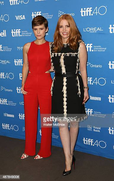 Kate Mara and Jessica Chastain attends ''The Martian' Photo Call during the 2015 Toronto International Film Festival at Tiff Bell Lightbox on...