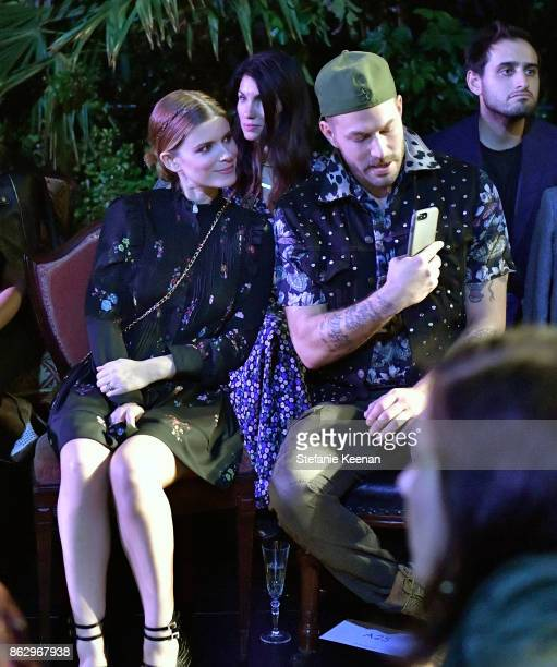 Kate Mara and Johnny Wujek at HM x ERDEM Runway Show Party at The Ebell Club of Los Angeles on October 18 2017 in Los Angeles California