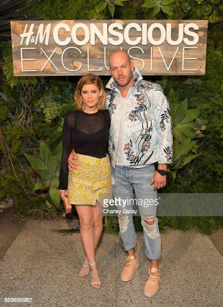 Kate Mara and Johnny Wujek attend the HM Conscious Exclusive Dinner at Smogshoppe on March 28 2017 in Los Angeles California