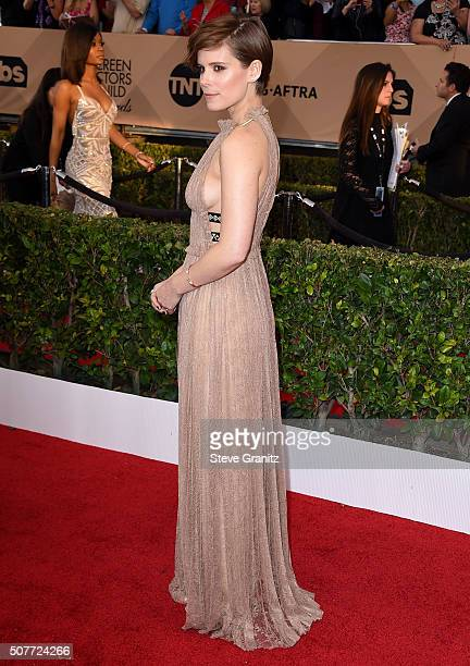 Kate Mara arrives at the 22nd Annual Screen Actors Guild Awards at The Shrine Auditorium on January 30 2016 in Los Angeles California