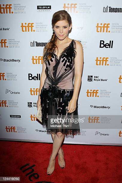 Kate Mara arrives at the 'Ides Of March' premiere during the 2011 Toronto International Film Festival held at Roy Thomson Hall on September 9 2011 in...