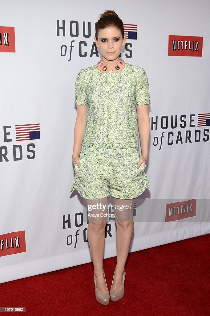 Kate Mara arrives at the Netflix's 'House Of Cards' for your consideration Q&A event at Leonard H. Goldenson Theatre on April 25, 2013 in North Hollywood, California.