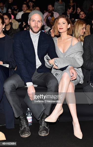 Kate Mara attend the Max Mara show during the Milan Fashion Week Autumn/Winter 2015 on February 26 2015 in Milan Italy