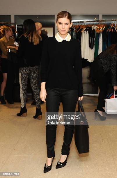 Kate Mara attends A Parker Party wearing Everlane and James Jeans on December 10 2013 in Los Angeles California