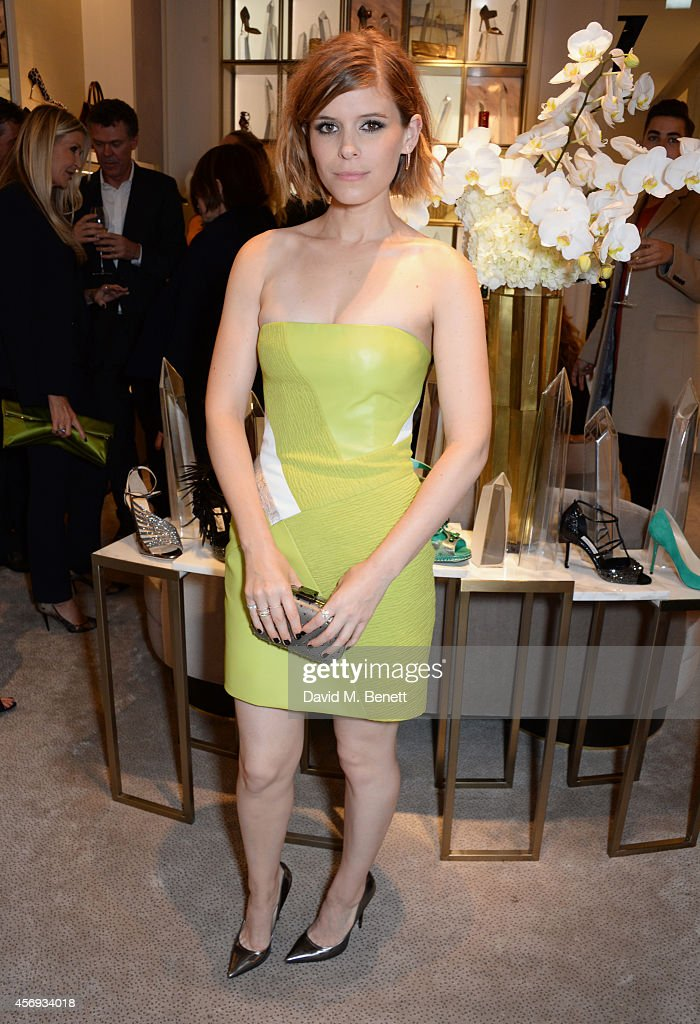 Kate Mara attends cocktail reception hosted by Pierre Denis CEO and Sandra Choi Creative Director of Jimmy Choo to celebrate the opening of the Jimmy...