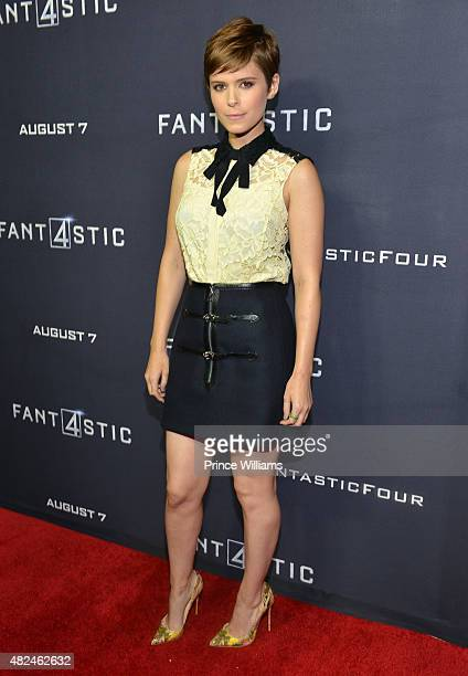 Kate Mara attends 'Fantastic Four' red carpet screening at Cinebistro on July 30 2015 in Atlanta Georgia