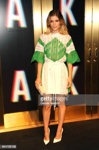 Kate Mara attends Saks Fifth Avenue Celebrates New York Fashion Week at Saks Fifth Avenue on September 8 2017 in New York City