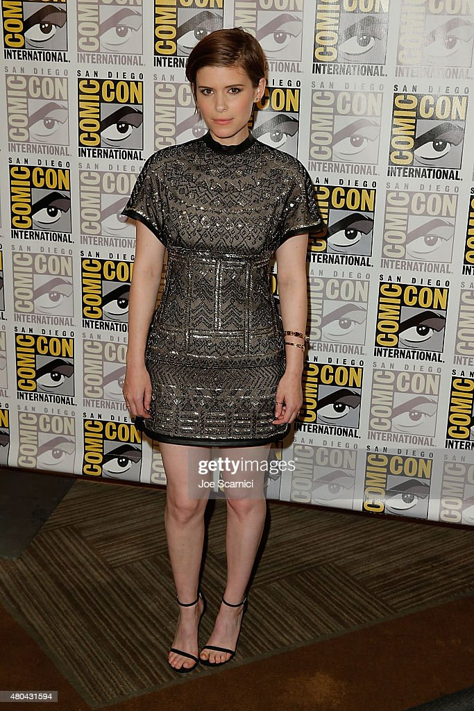 Kate Mara attends the 20'th Century Fox Press Line at ComicCon International 2015 Day 3 on July 11 2015 in San Diego California