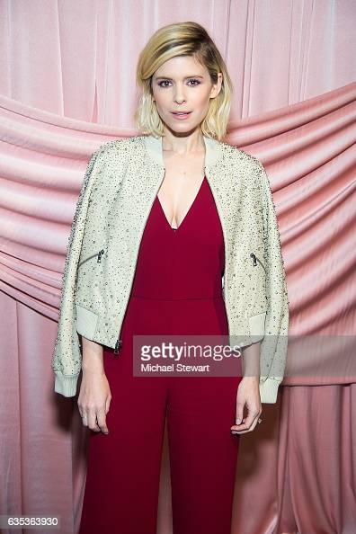 Kate Mara attends the Alice Olivia by Stacey Bendet presentation during February 2017 New York Fashion Week at Highline Stages on February 14 2017 in...