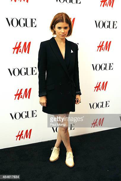 Kate Mara attends the HM and Vogue NY Fashion Week panel discussion with Kate Mara and Johnny Wujek at HM Fifth Avenue on September 4 2014 in New...