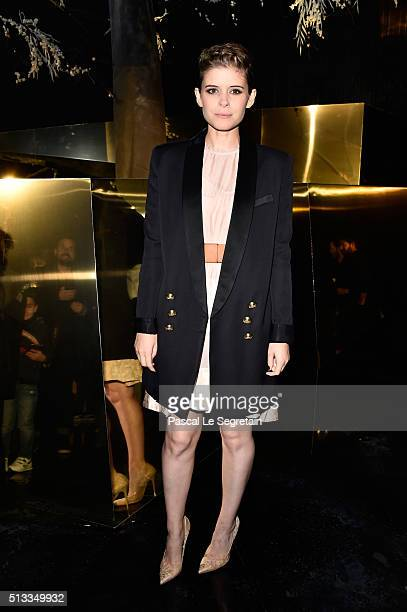 Kate Mara attends the HM show as part of the Paris Fashion Week Womenswear Fall/Winter 2016/2017 on March 2 2016 in Paris France