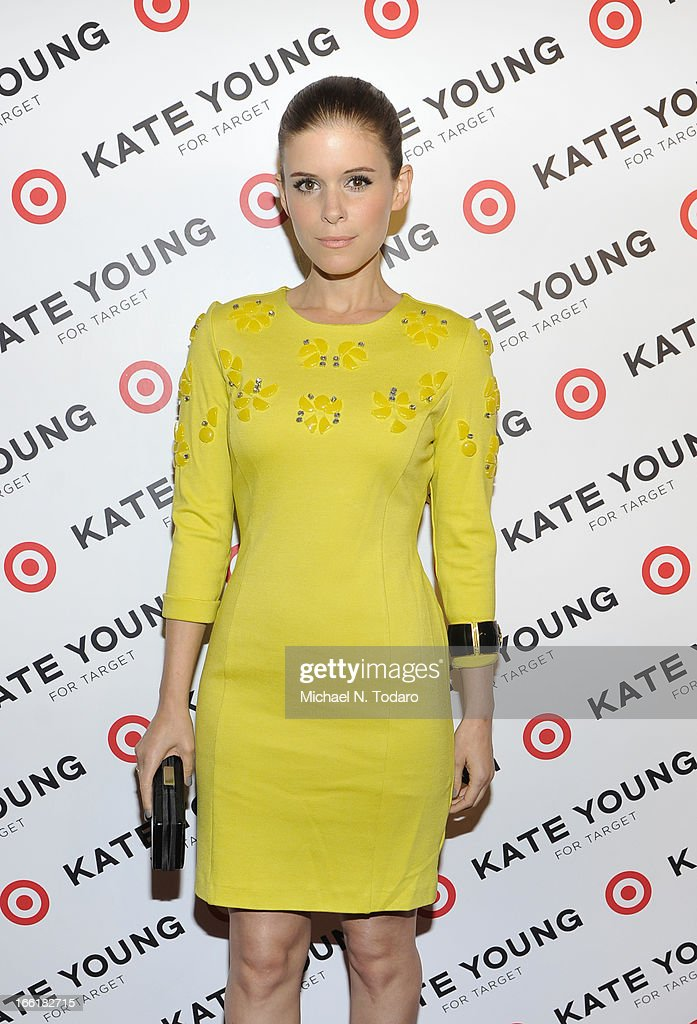 Kate Mara attends the <a gi-track='captionPersonalityLinkClicked' href=/galleries/search?phrase=Kate+Young+-+Stylist&family=editorial&specificpeople=15146765 ng-click='$event.stopPropagation()'>Kate Young</a> For Target Launch at The Old School NYC on April 9, 2013 in New York City.