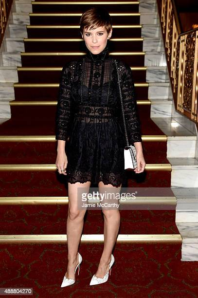 Kate Mara attends the Marc Jacobs Spring 2016 fashion show during New York Fashion Week at Ziegfeld Theater on September 17 2015 in New York City