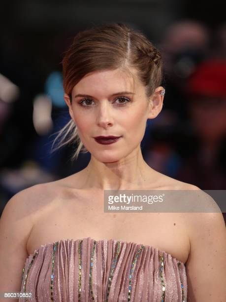 Kate Mara attends the Mayfair Gala European Premiere of 'Film Stars Don't Die in Liverpool' during the 61st BFI London Film Festival on October 11...