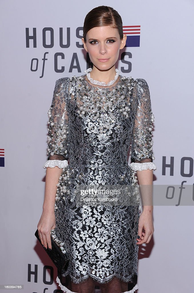 Kate Mara attends the Netflix's 'House Of Cards' New York Premiere at Alice Tully Hall on January 30, 2013 in New York City.