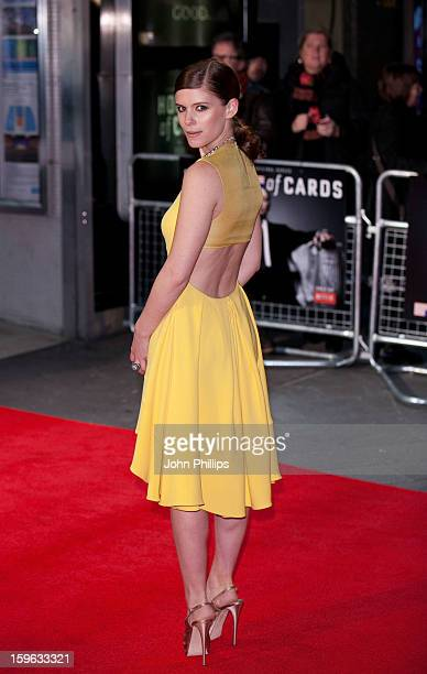 Kate Mara attends the red carpet premiere for the launch of Netflix Original Series House of Cards on January 17 2013 in London United Kingdom