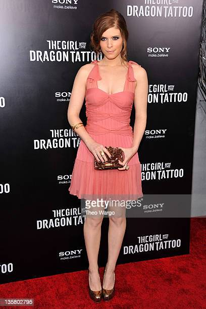 Kate Mara attends the 'The Girl With the Dragon Tattoo' New York premiere at Ziegfeld Theater on December 14 2011 in New York City