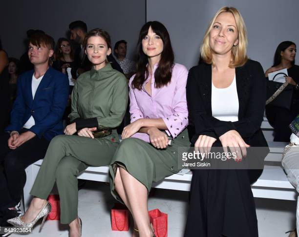 Kate Mara Caitriona Balfe and Tara Swennen attend the Noon By Noor show during September 2017 New York Fashion Week Shows at Gallery 3 Skylight...