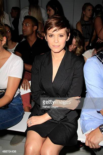 Kate Mara front row attends DKNY Women's show during Spring 2016 New York Fashion Week on September 16 2015 in New York City
