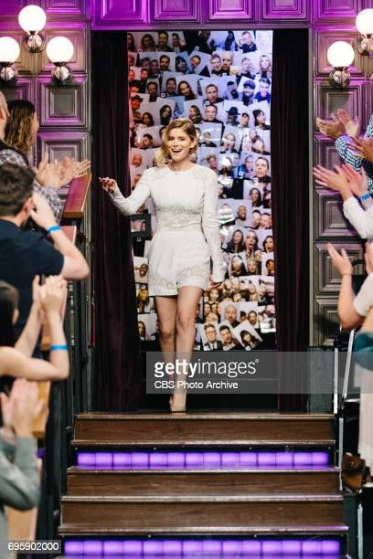 Kate Mara greets the audience during 'The Late Late Show with James Corden' Tuesday June 13 2017 On The CBS Television Network