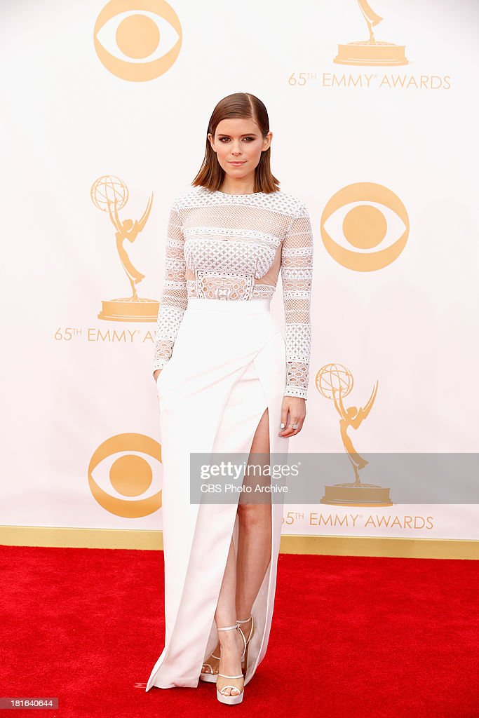 <a gi-track='captionPersonalityLinkClicked' href=/galleries/search?phrase=Kate+Mara&family=editorial&specificpeople=544680 ng-click='$event.stopPropagation()'>Kate Mara</a> on the Red Carpet for the 65th Primetime Emmy Awards, which will be broadcast live across the country 8:00-11:00 PM ET/ 5:00-8:00 PM PT from NOKIA Theater L.A. LIVE in Los Angeles, Calif., on Sunday, Sept. 22 on the CBS Television Network.