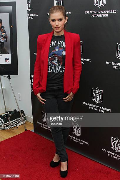 Kate Mara visits the NFL Style Suite at the Bryant Park Hotel on September 20 2011 in New York City