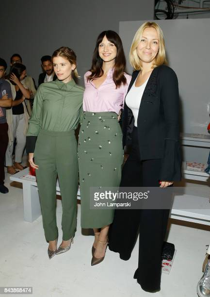 Kate MaraCaitriona Balfe and Tara Swennen attend Noon By Noor September 2017 New York Fashion Week The Shows at Gallery 3 Skylight Clarkson Sq on...
