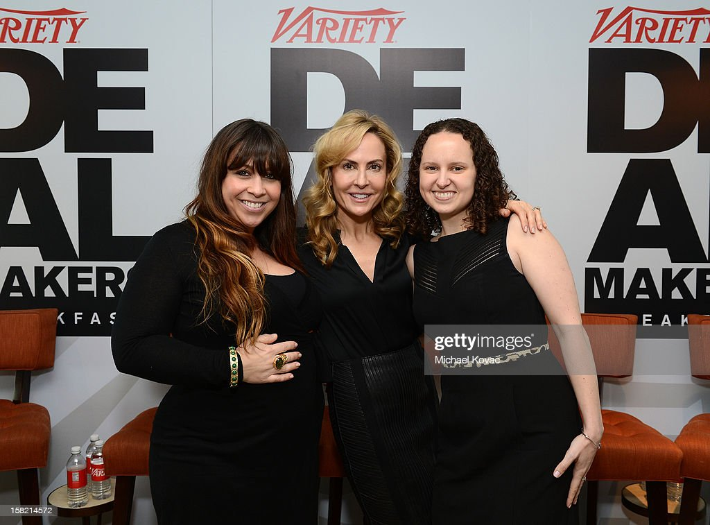 Kate Mazzuca, Director, Event Marketing at Variety, Brooke Turpin, Managing Director of Strategic Partnerships at Variety, and Natasha Gerdau, Account Exec; Business Development at Variety attend Variety's Dealmakers Breakfast presented by Bank Of America at Soho House on December 11, 2012 in West Hollywood, California.