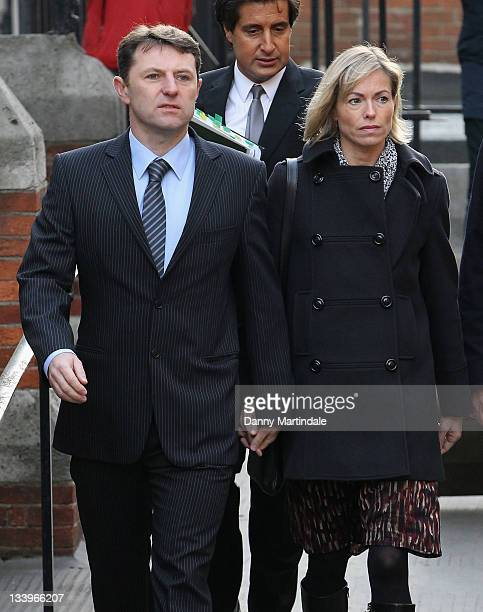 Kate McCann and Gerry McCann attend the Leveson Inquiry at High Court on November 23 2011 in London England