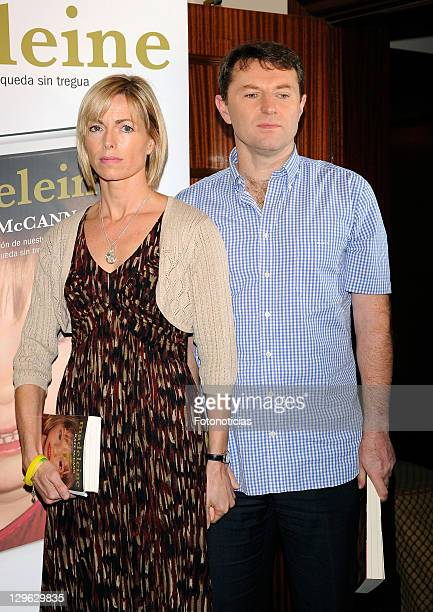 Kate McCann and Gerry McCann present the spanish edition of their book 'Madeleine' at the Wellington Hotel on October 19 2011 in Madrid Spain