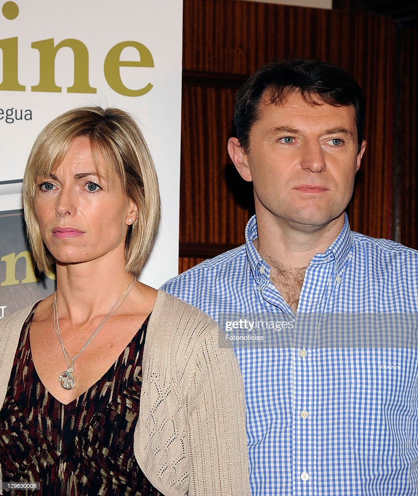 <a gi-track='captionPersonalityLinkClicked' href=/galleries/search?phrase=Kate+McCann&family=editorial&specificpeople=4278082 ng-click='$event.stopPropagation()'>Kate McCann</a> and <a gi-track='captionPersonalityLinkClicked' href=/galleries/search?phrase=Gerry+McCann&family=editorial&specificpeople=4278561 ng-click='$event.stopPropagation()'>Gerry McCann</a> present the spanish edition of their book 'Madeleine' at the Wellington Hotel on October 19, 2011 in Madrid, Spain.