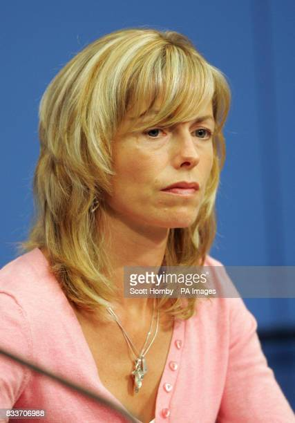 Kate McCann at a press conference in Berlin on the first leg of her 2 stop tour which also takes in Amsterdam