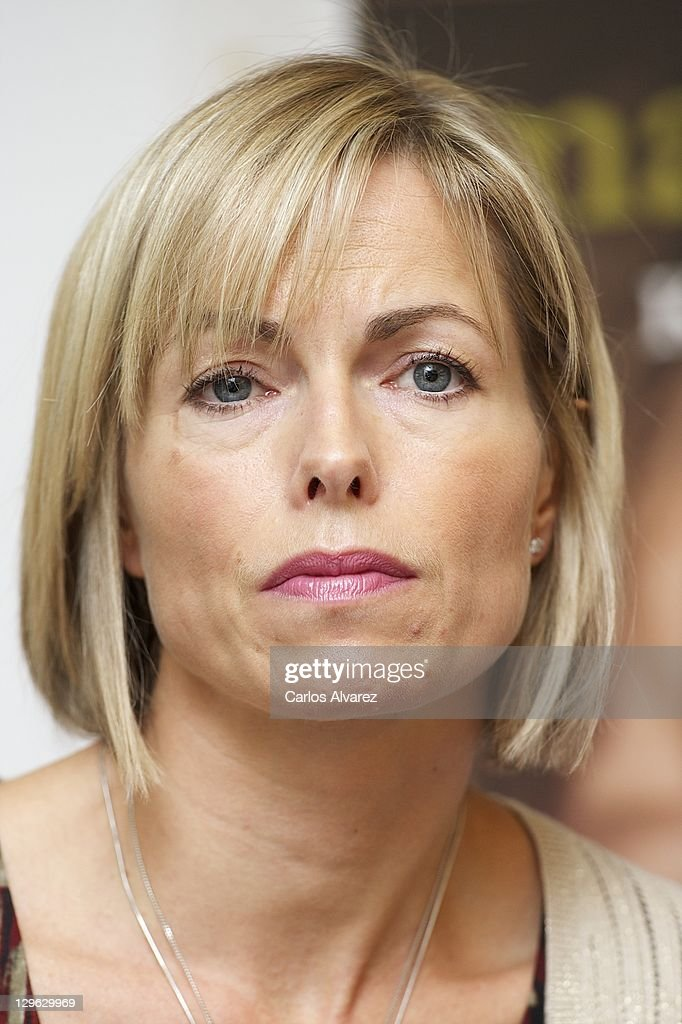 <a gi-track='captionPersonalityLinkClicked' href=/galleries/search?phrase=Kate+McCann&family=editorial&specificpeople=4278082 ng-click='$event.stopPropagation()'>Kate McCann</a> listens during the launch of her book 'Madeleine' at the Wellington Hotel on October 19, 2011 in Madrid, Spain. Kate and Gerry McCann's daughter Madeleine has been missing since the evening of May 3, 2007 while the family were on holiday in Portugal.