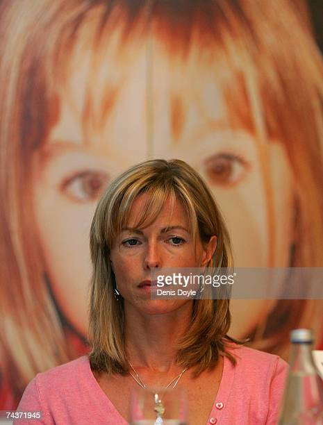 Kate McCann ther mother of missing Madeleine McCann listens to her husband Gerry speak during a press conference on June 1 2007 in Madrid Spain Kate...