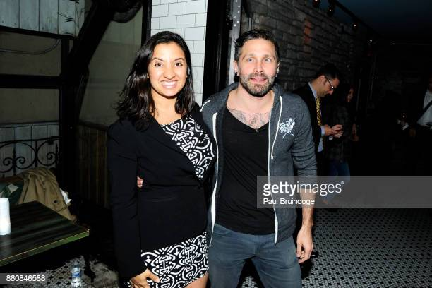 Kate McGee and Tristan Griffin attend Espolòn Tequila Hosts Celebration in Partnership with Ai Weiwei Exodus Exhibit at Hotel Chantelle on October 12...