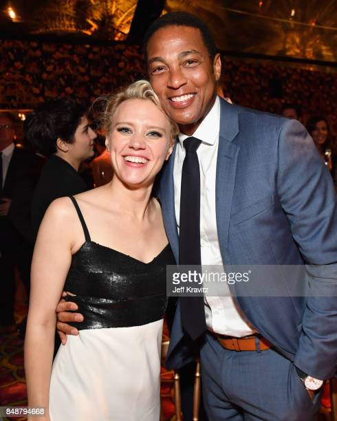 Kate McKinnon and Don Lemon attend the HBO's Official 2017 Emmy After Party at The Plaza at the Pacific Design Center on September 17 2017 in Los...
