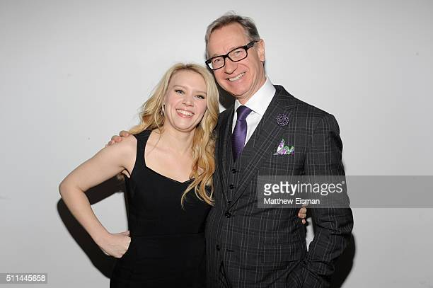Kate McKinnon and Paul Feig attend the 2016 Athena Film Festival day two at The Diana Center on February 20 2016 in New York City
