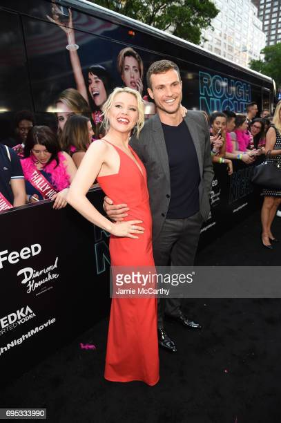 Kate McKinnon and Ryan Cooper attend New York Premiere of Sony's ROUGH NIGHT presented by SVEDKA Vodka at AMC Lincoln Square Theater on June 12 2017...