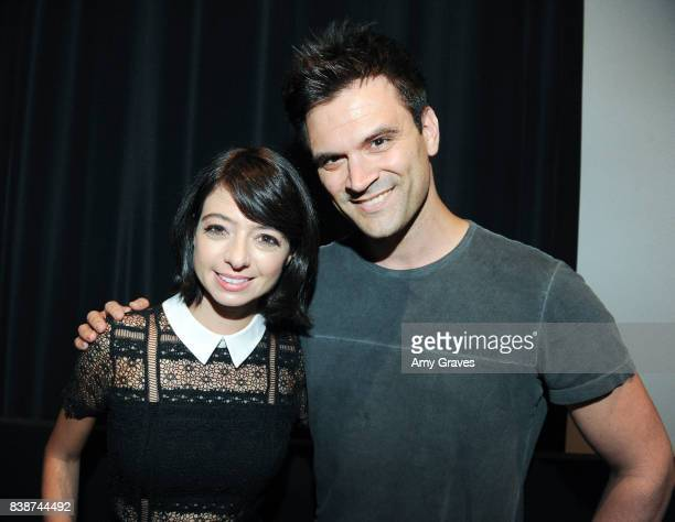 Kate Micucci and Kash Hovey attend the Premiere Of Level 33 Entertainment's 'Unleashed' at the Laemmle Monica Film Center on August 24 2017 in Santa...