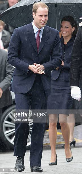 Kate Middleton and Prince William arrive at Darwen Aldridge Community Academy on April 11 2011 in Darwen England With less than three weeks to go...