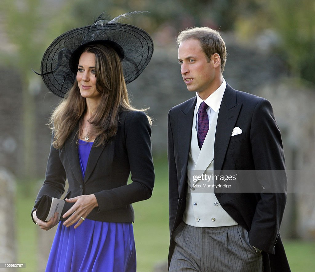 Kate Middleton and <a gi-track='captionPersonalityLinkClicked' href=/galleries/search?phrase=Prince+William&family=editorial&specificpeople=178205 ng-click='$event.stopPropagation()'>Prince William</a> attend Harry Meade & Rosie Bradford's wedding at the Church of St. Peter and St. Paul on October 23, 2010 in Northleach near Cheltenham, England.