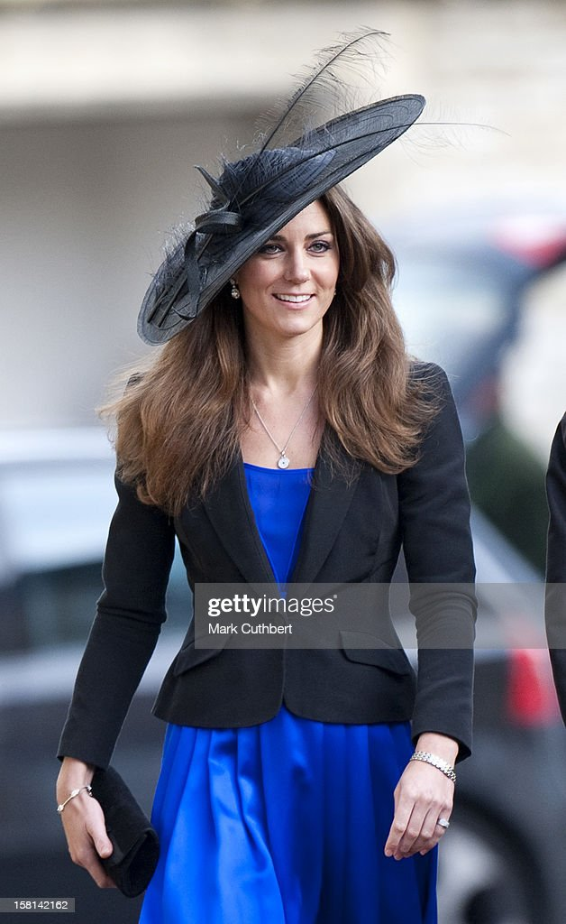 Kate Middleton And Prince William (Not Pictured) Attend The Wedding Of Their Friends Harry Mead And Rosie Bradford In The Village Of Northleach, Gloucestershire.
