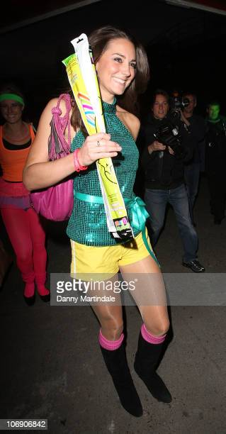 Kate Middleton arrives at the DayGlo Midnight Roller Disco at The Renaissance Rooms on September 17 2008 in London England It was announced by...
