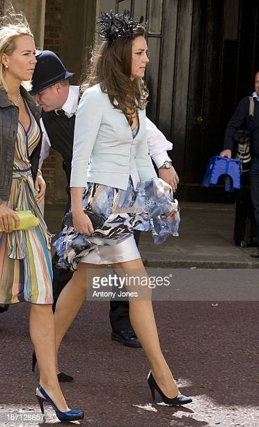 Kate Middleton Arrives At The Wedding Of Lady Rose Windsor Youngest Daughter Of The Duke Duchess Of Gloucester Who Marries George Gilman At The...