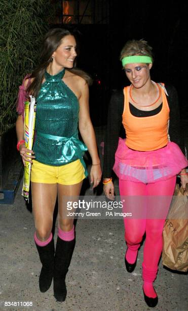 Kate Middleton arrives with an unidentified friend at the Renaissance Rooms in south London for the DayGlo Midnight Roller Disco an event organised...